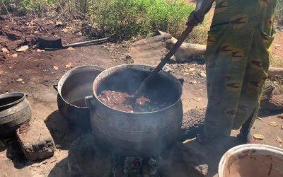 Cooking Shea Butter in Ghana